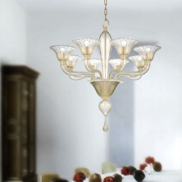 Lampadario classico / in vetro soffiato / in vetro di Murano / in ...