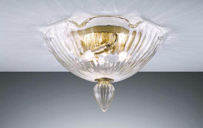 Plafoniere Vetro Di Murano Prezzi : Plafoniera classica in vetro soffiato di murano