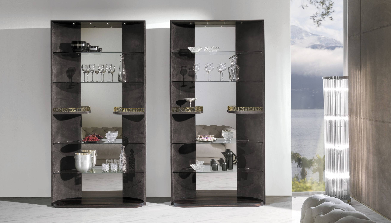 Credenza Con Vetrina Moderna : Vetrina moderna in vetro legno pelle hennesy y