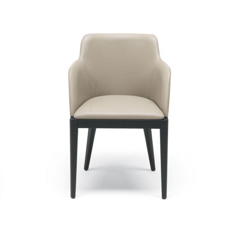 Sedia moderna / imbottita / con braccioli / in tessuto - CLEÒ ...