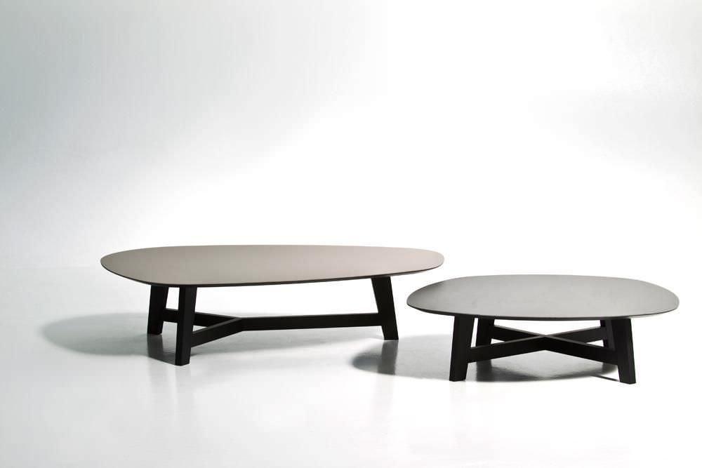 Tavolino basso moderno in quercia in mdf in acciaio