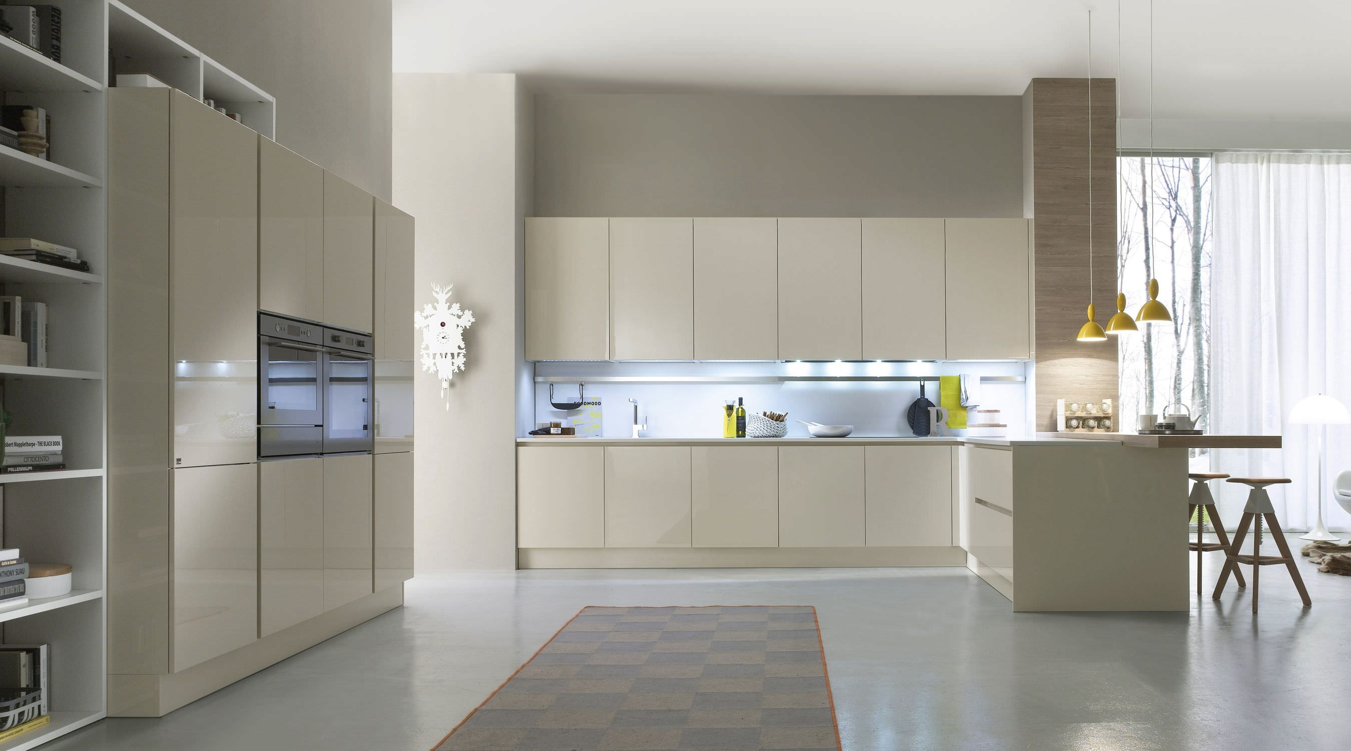 Cucina moderna / in legno / laccata / lucida - SYSTEM COLLECTION ...