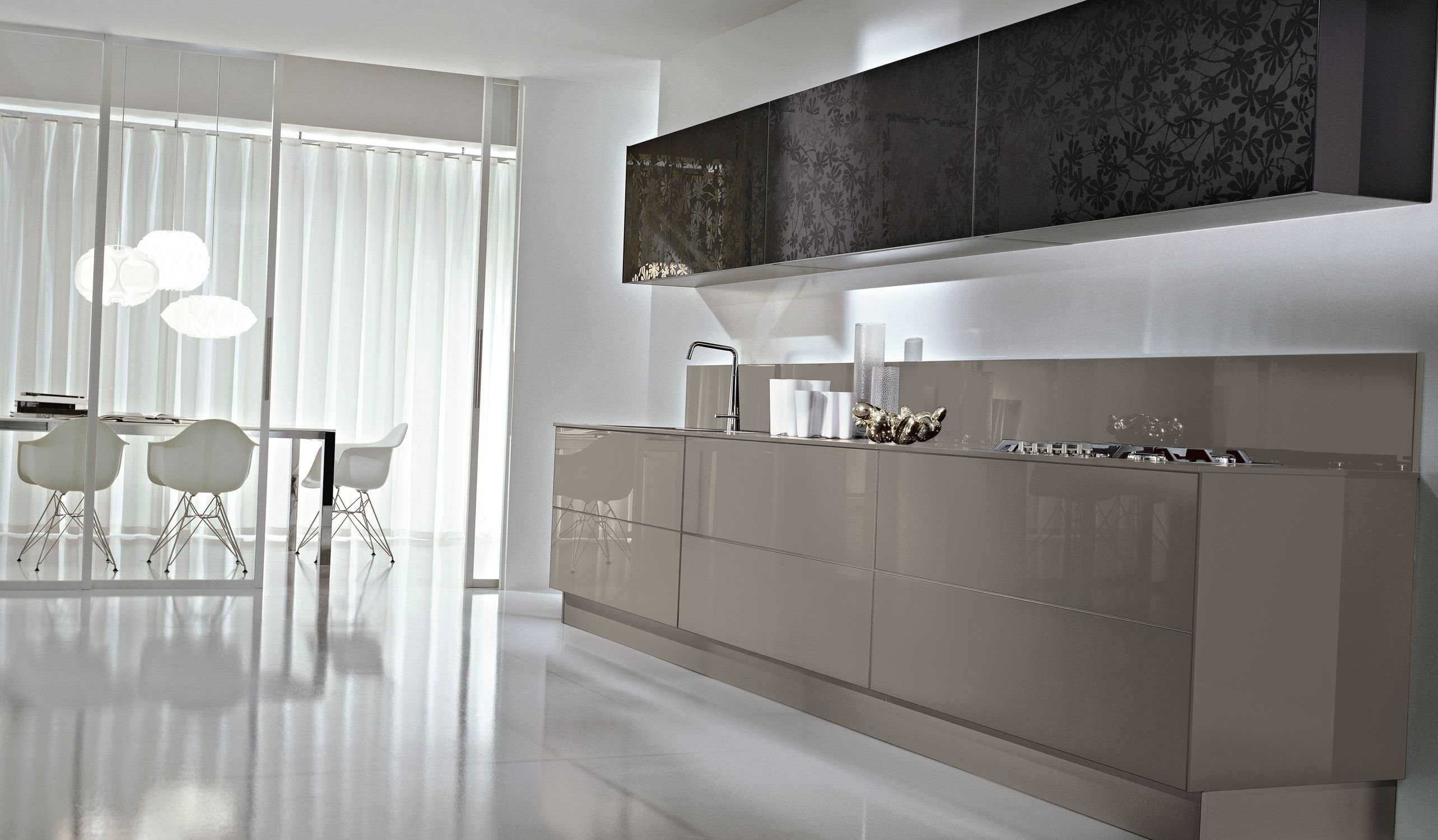 Cucina moderna / in vetro / laccata - SYSTEM COLLECTION - Pedini