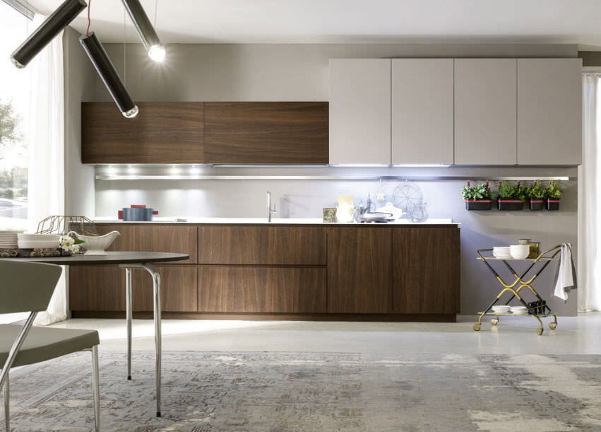 Cucina moderna / impiallacciata in legno - MATERIKA - Pedini