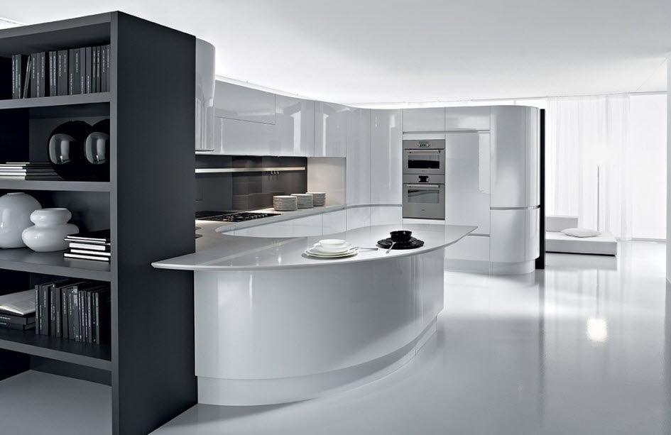 Cucina moderna / in legno / laccata / lucida - ARTIKA - Pedini