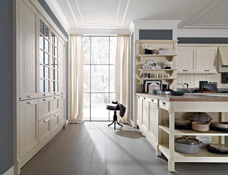 Cucina moderna / in legno / laccata - VINTAGE - Pedini
