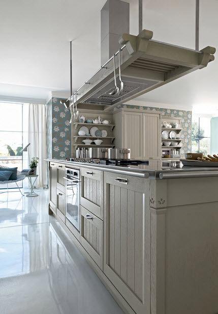 Cucina classica / in legno / con isola - VINTAGE - Pedini