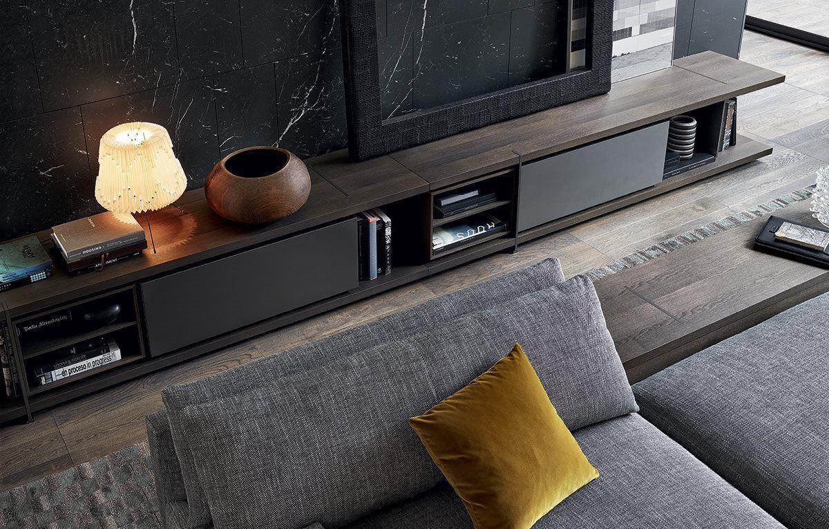 Credenza Moderna Porta Tv : Mobile porta tv moderno impiallacciato in legno di jean marie