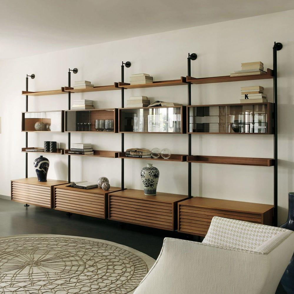 libreria legno e vetro: librerie in vetro archiproducts. - Scaffali Metallo E Vetro