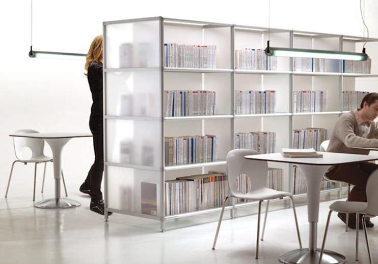 Libreria Per Ufficio : Libreria moderna per ufficio in legno boox doppio by alberto