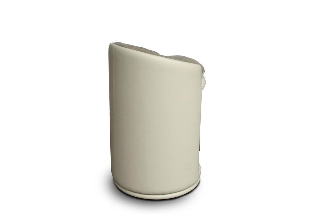 Sgabello da bar moderno in pelle beige bogo system by