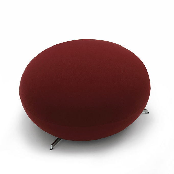 Pouf moderno / in tessuto / in pelle / in acciaio - SUPERSASSI by ...