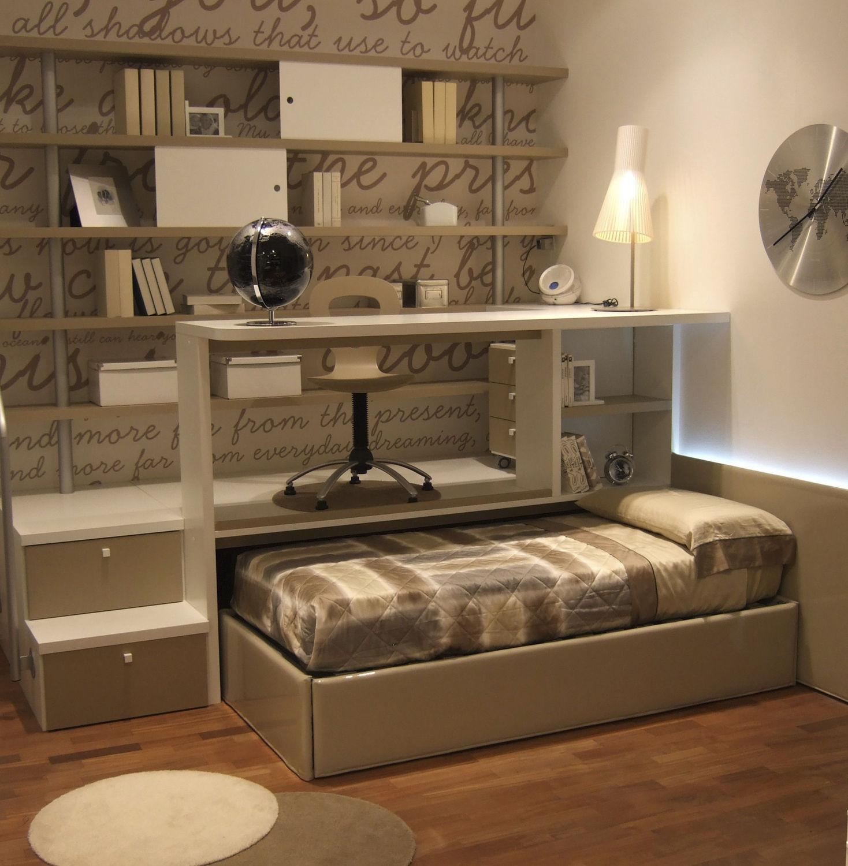 Scrivania in legno / moderna / con letto estraibile / per bambini ...
