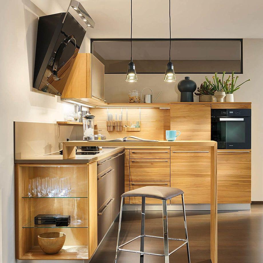 Cucina moderna / in acero / in ciliegio / in faggio - L1 by ...