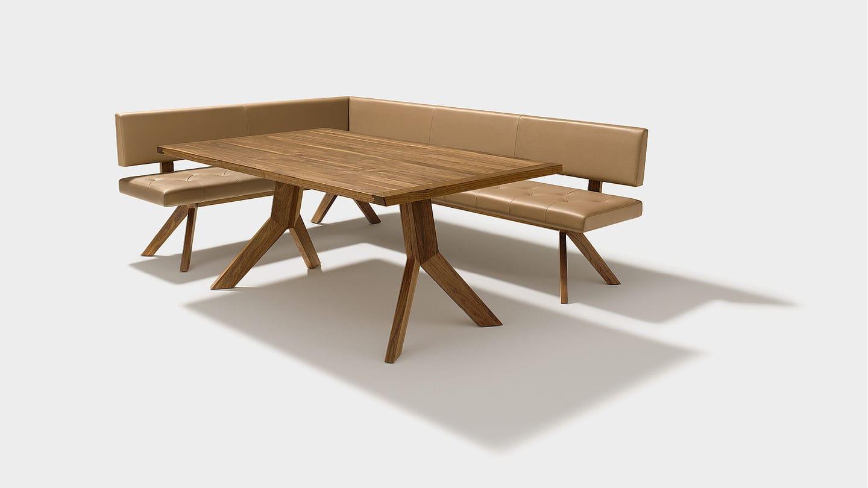 Panca moderna / in legno / in pelle / con schienale - YPS by Jacob ...