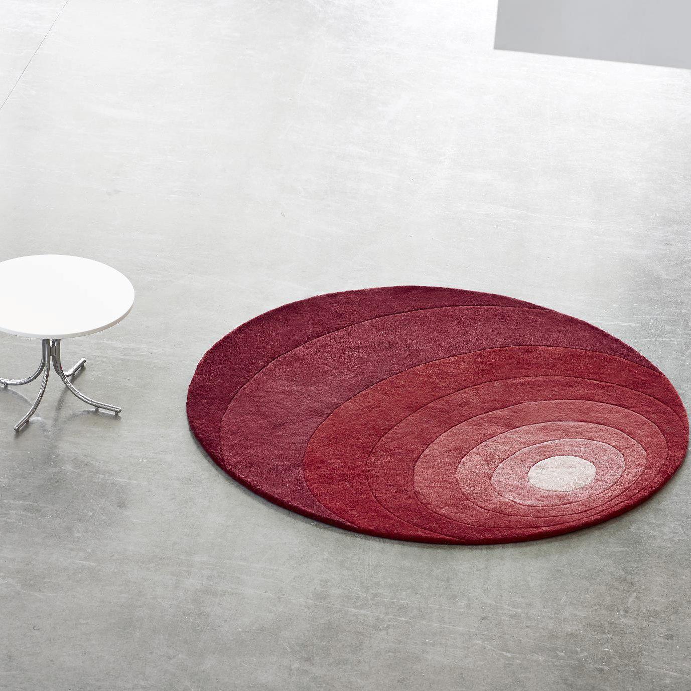 Tappeto moderno / geometrico / in lana / rotondo - LUNA - VerPan