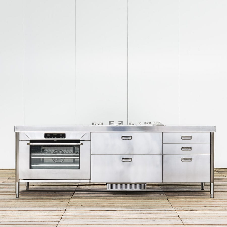 Isola cucina moderna - 250 WITH BUILT-IN EXTRACTOR HOOD - ALPES-INOX