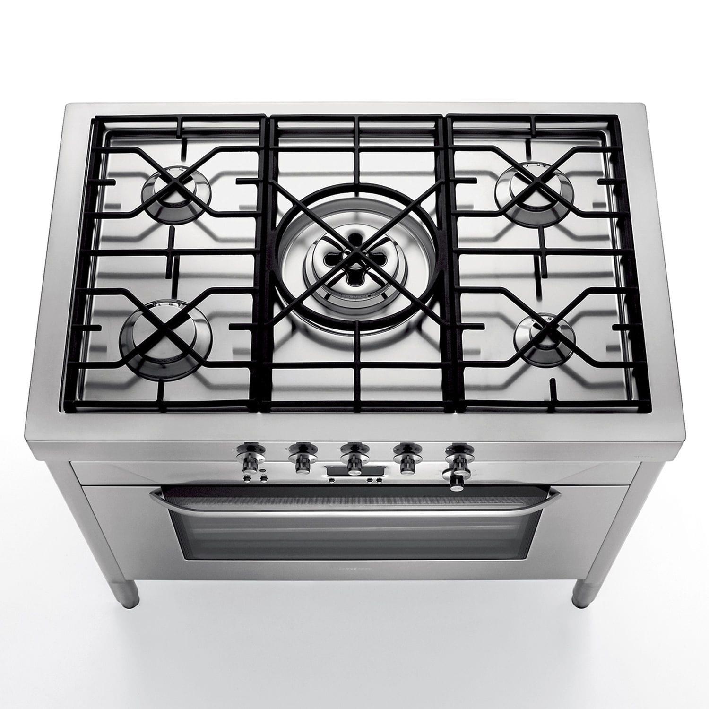 Blocco cucina a gas / professionale / in acciaio inox / in ghisa ...