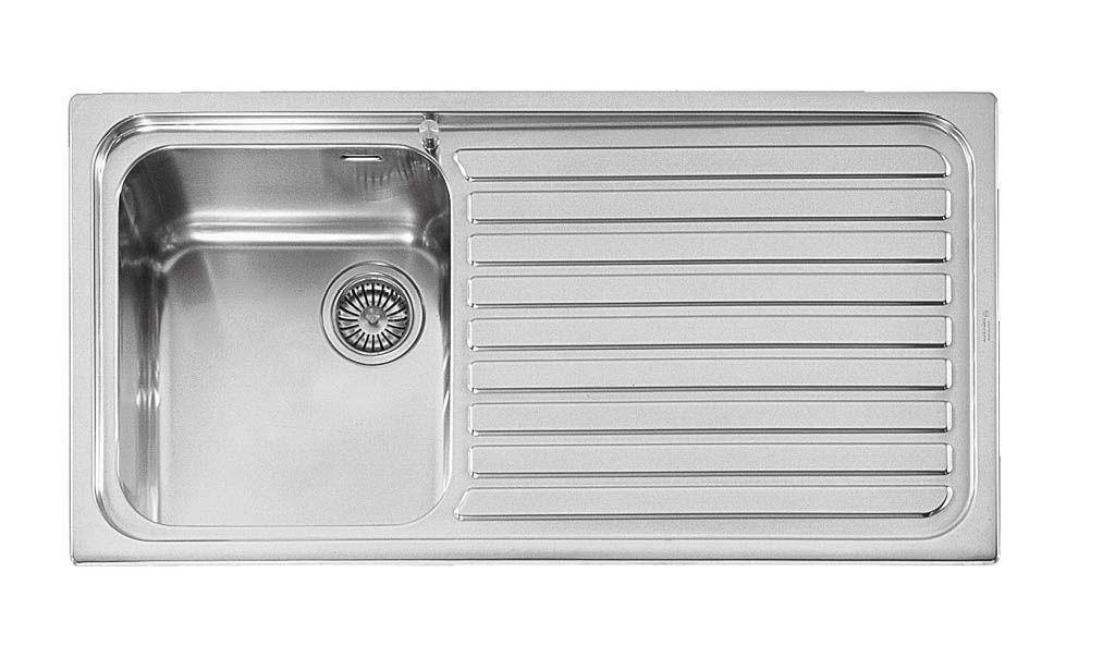 Lavello a 1 vasca / in acciaio inox / con gocciolatoio - OUTLET ...