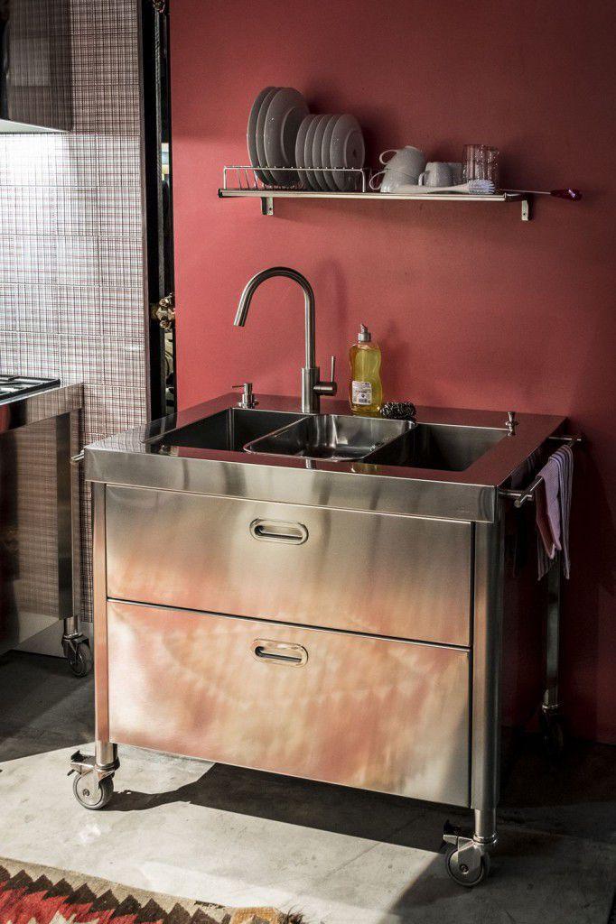 Mobile lavello in acciaio inox   sink 100   alpes inox