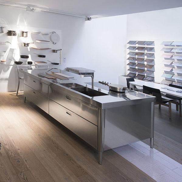 Isola cucina - SNACK BAR UNIT 125X280 - ALPES-INOX