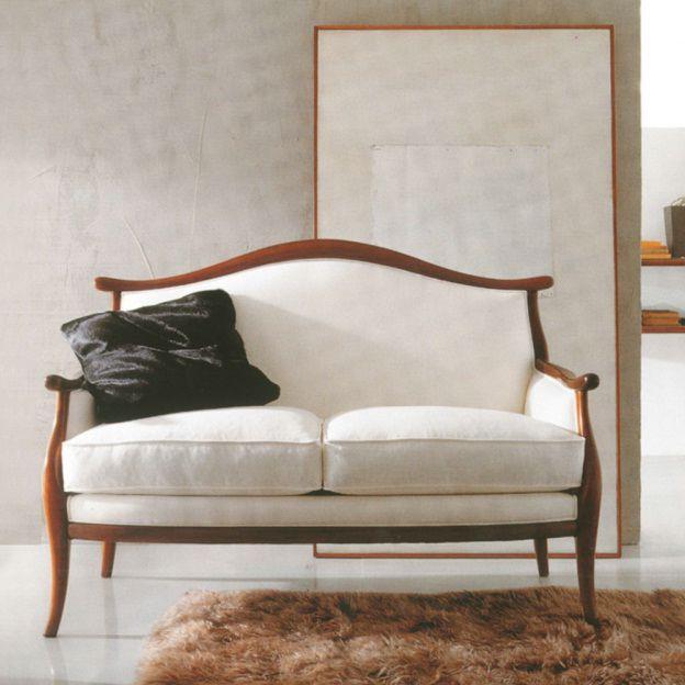 Divano classico / in legno / in tessuto / 2 posti - A1236/2 ...