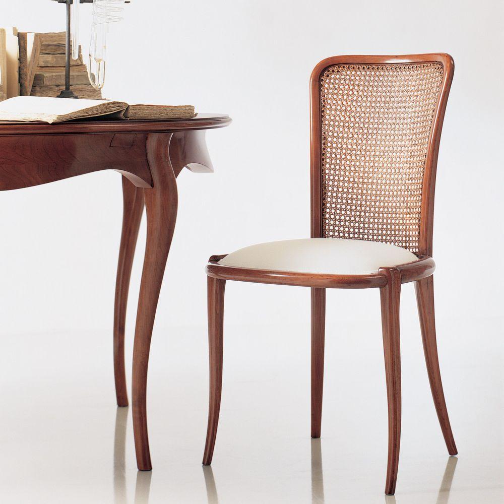 Sedia classica / imbottita / in legno / bianca - B1261 - ANNIBALE ...