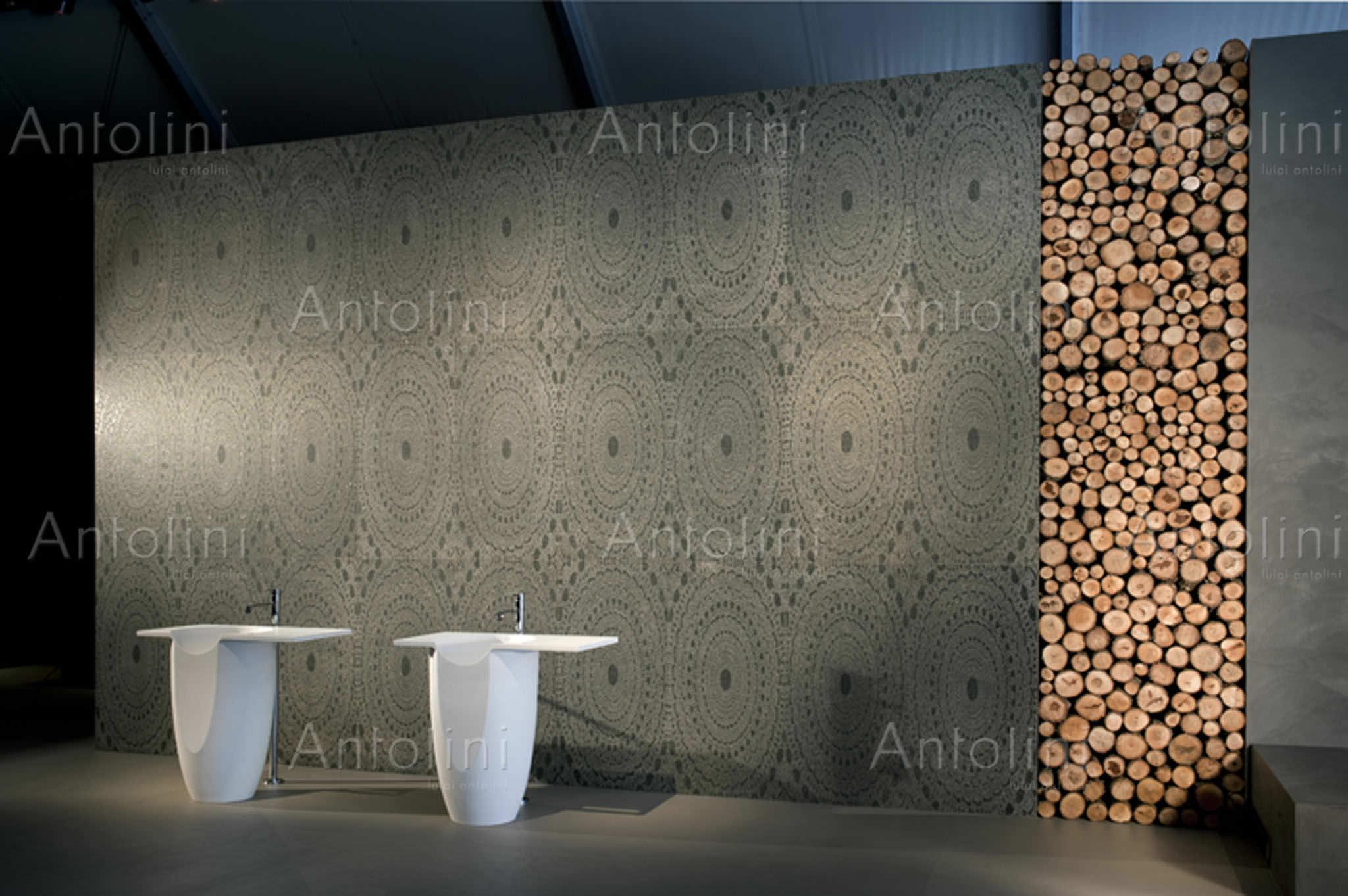 Piastrella da interno da parete in cemento motivo geometrico