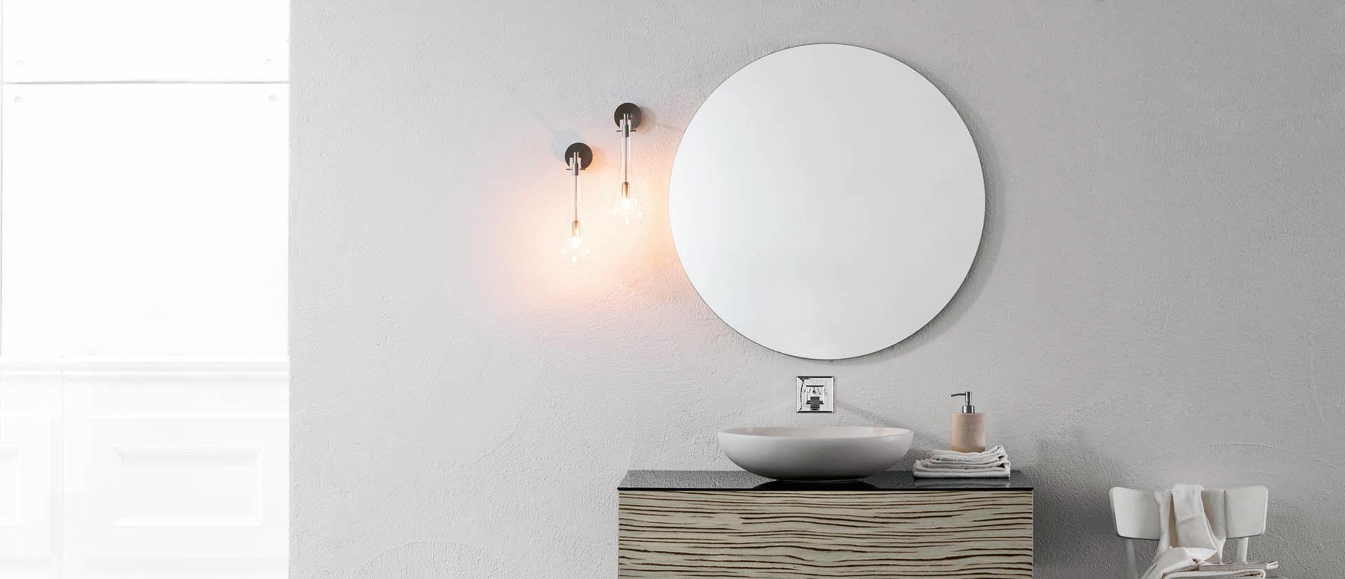 applique moderna da bagno in vetro per specchio splash arlexitalia