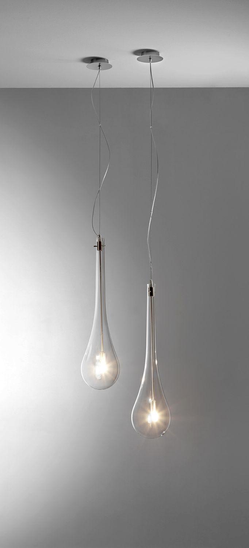 Lampada a sospensione / moderna / in vetro / per specchio - SPLASH ...