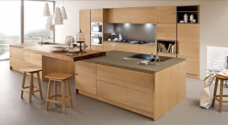 Cucina moderna / in legno / in legno massiccio   corteccia   bamax