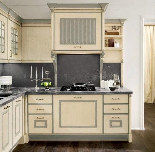 Cucina classica / in legno massiccio / in legno - SWEDEN AVORIO - BAMAX