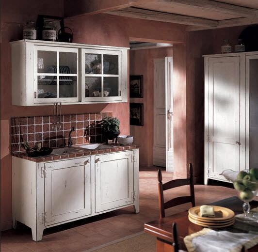 Cucina classica / in legno / dipinta - BRETAGNA BIANCA - BAMAX
