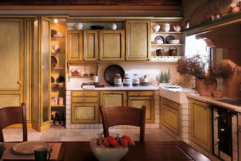 Cucina classica / in legno - FIORI DI CAMPO - BAMAX