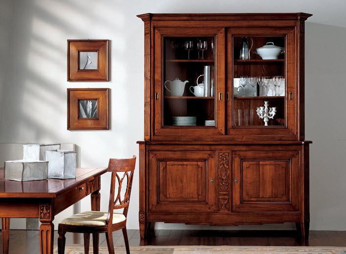 Credenza Moderna Con Alzata : Credenza con alzata classica in legno fiocco di seta bamax