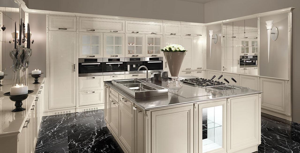 Cucina moderna / in legno massiccio / in legno laccato / in vetro ...