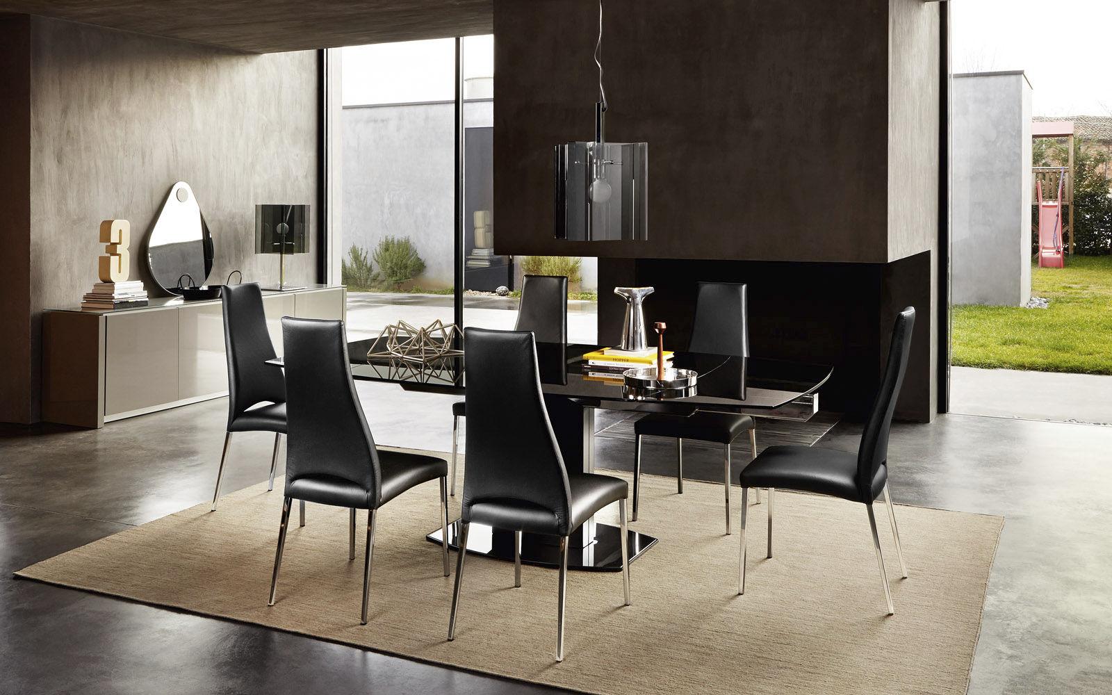 Sedia Imbottita Design : Sedia moderna imbottita con braccioli cantilever juliet by