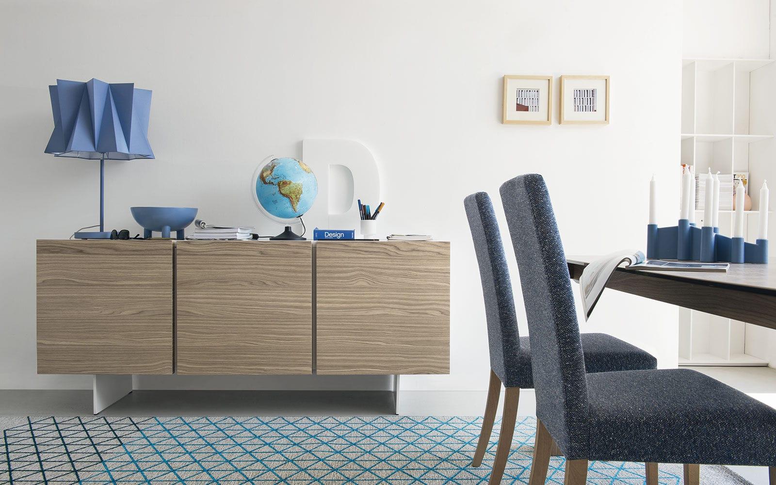 Credenza Moderna Calligaris : Credenza moderna in legno metallo bianca sipario
