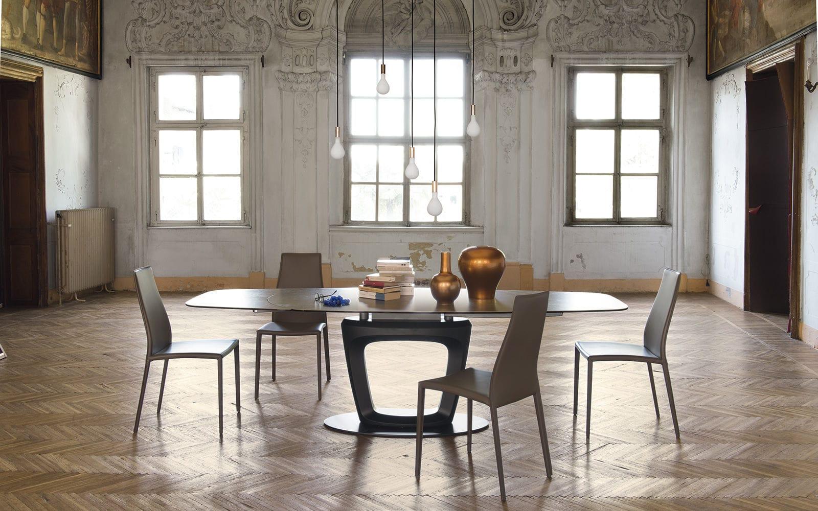 Tavolo da pranzo moderno / in metallo / in ceramica / in vetro ...
