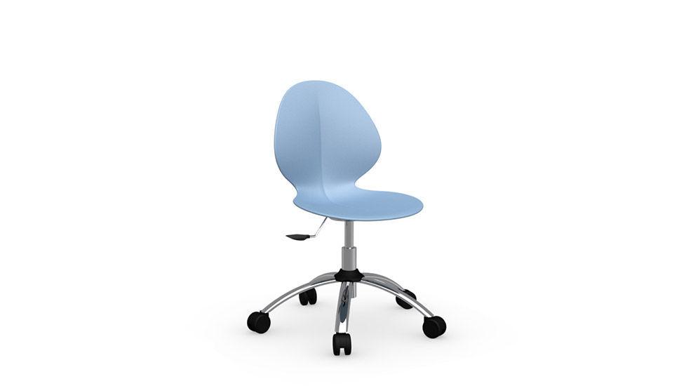 Sedia da ufficio moderna / con rotelle / girevole / regolabile ...