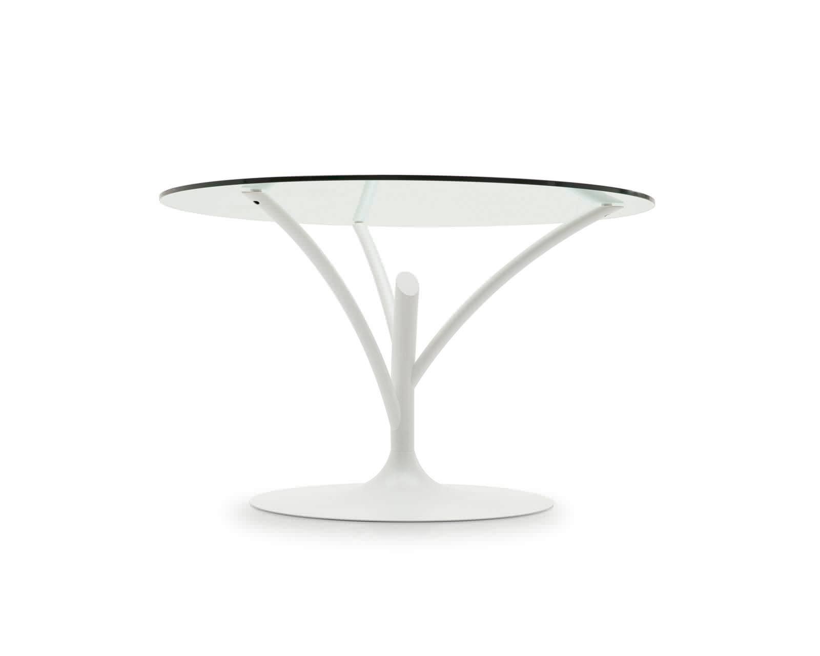 Tavolo da pranzo moderno / in vetro / in metallo / rotondo ...
