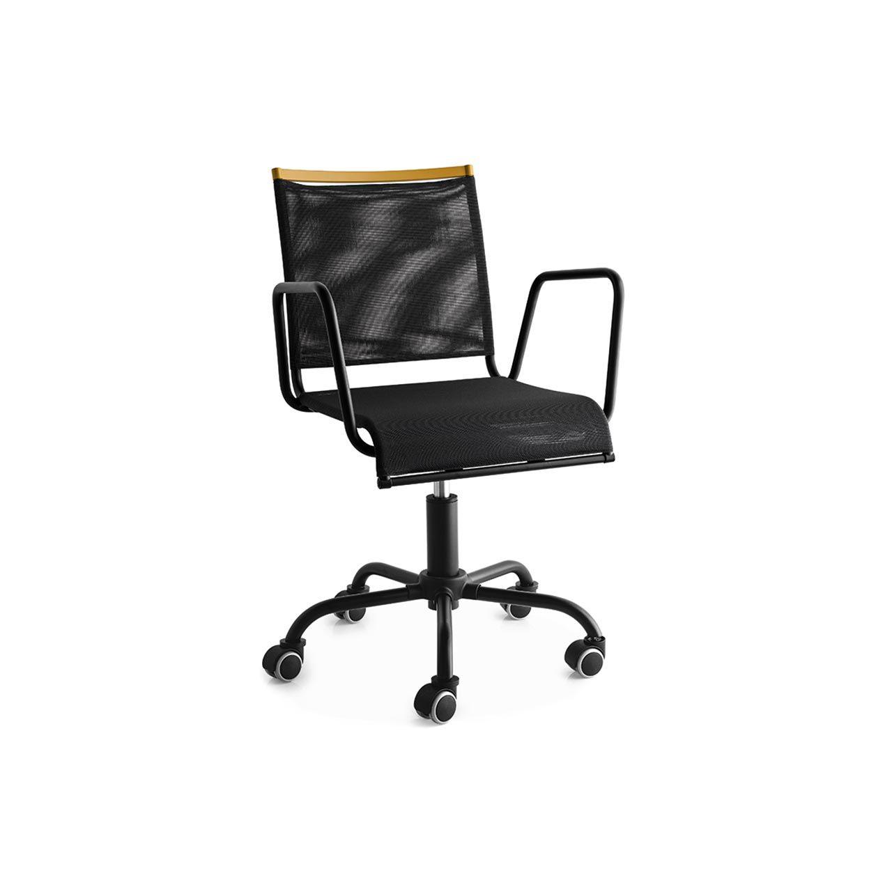 Sedia da ufficio moderna / con braccioli / con rotelle / girevole ...