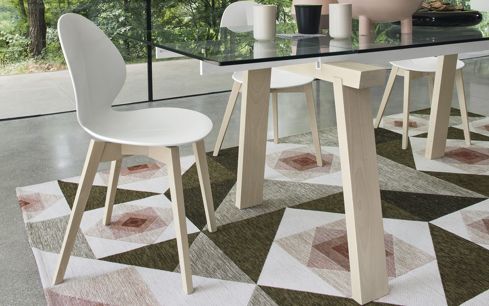 Sedia moderna / ergonomica / in legno / in pelle - BASIL W by Smith ...