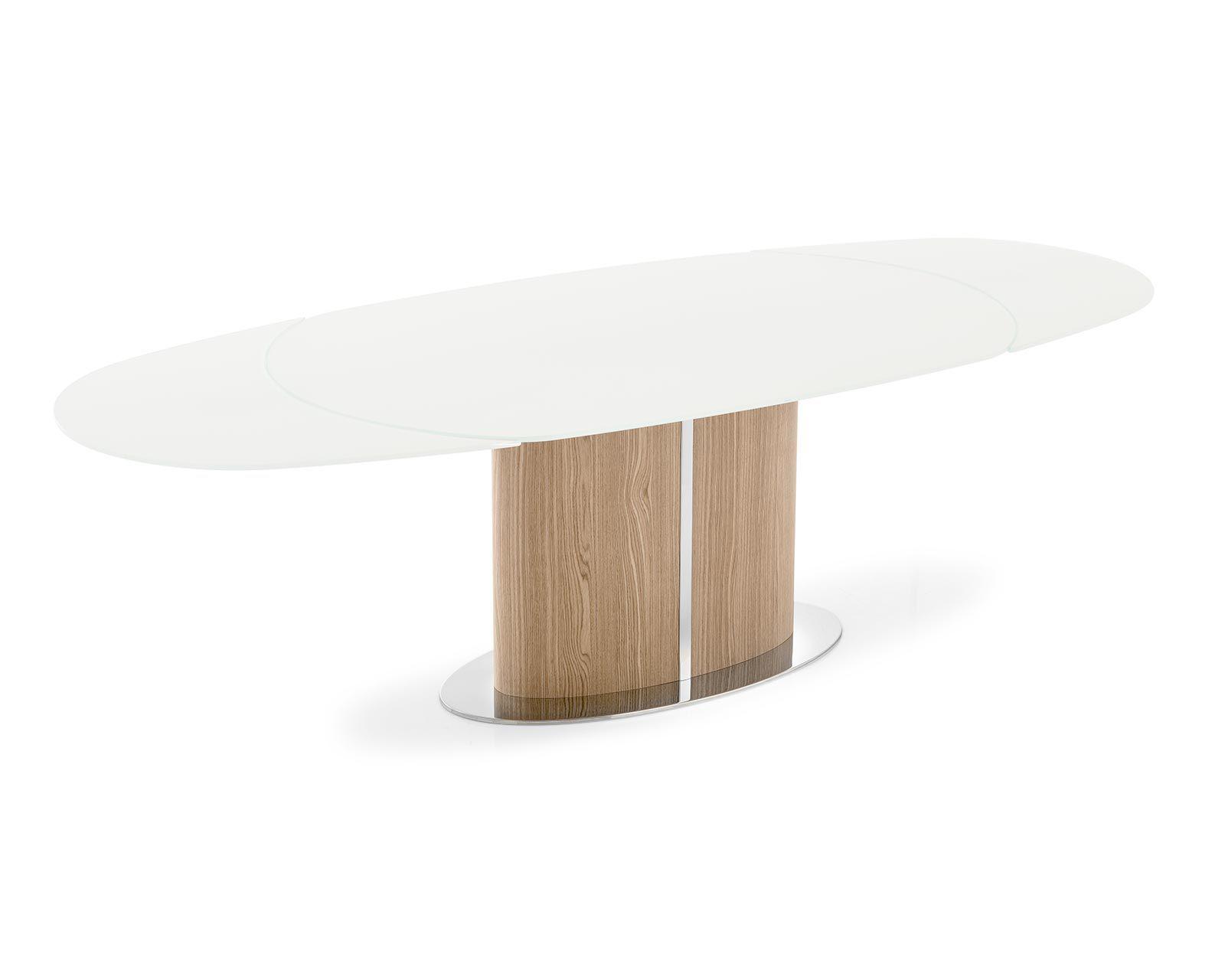 Tavolo Ovale Calligaris : Tavolo da pranzo moderno in vetro temprato in metallo ovale