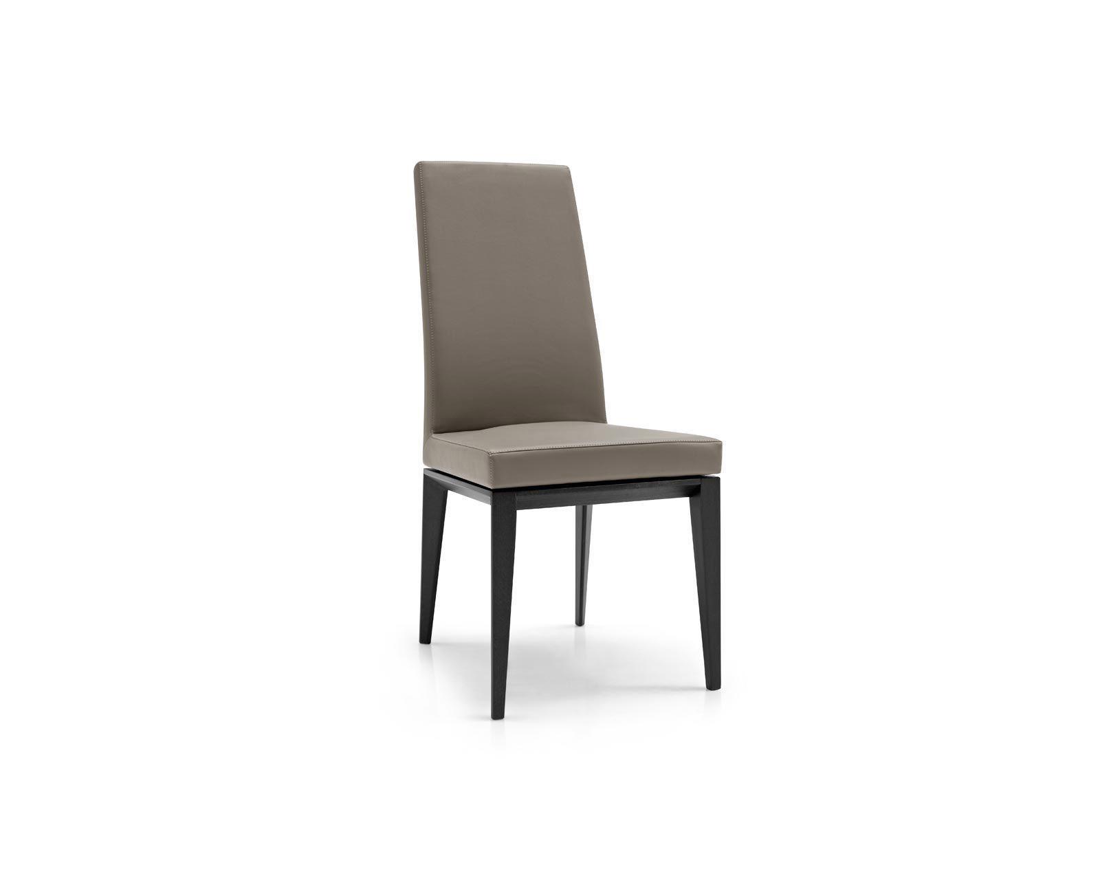 Sedie Schienale Alto Ecopelle : Sedia moderna con braccioli imbottita con schienale alto