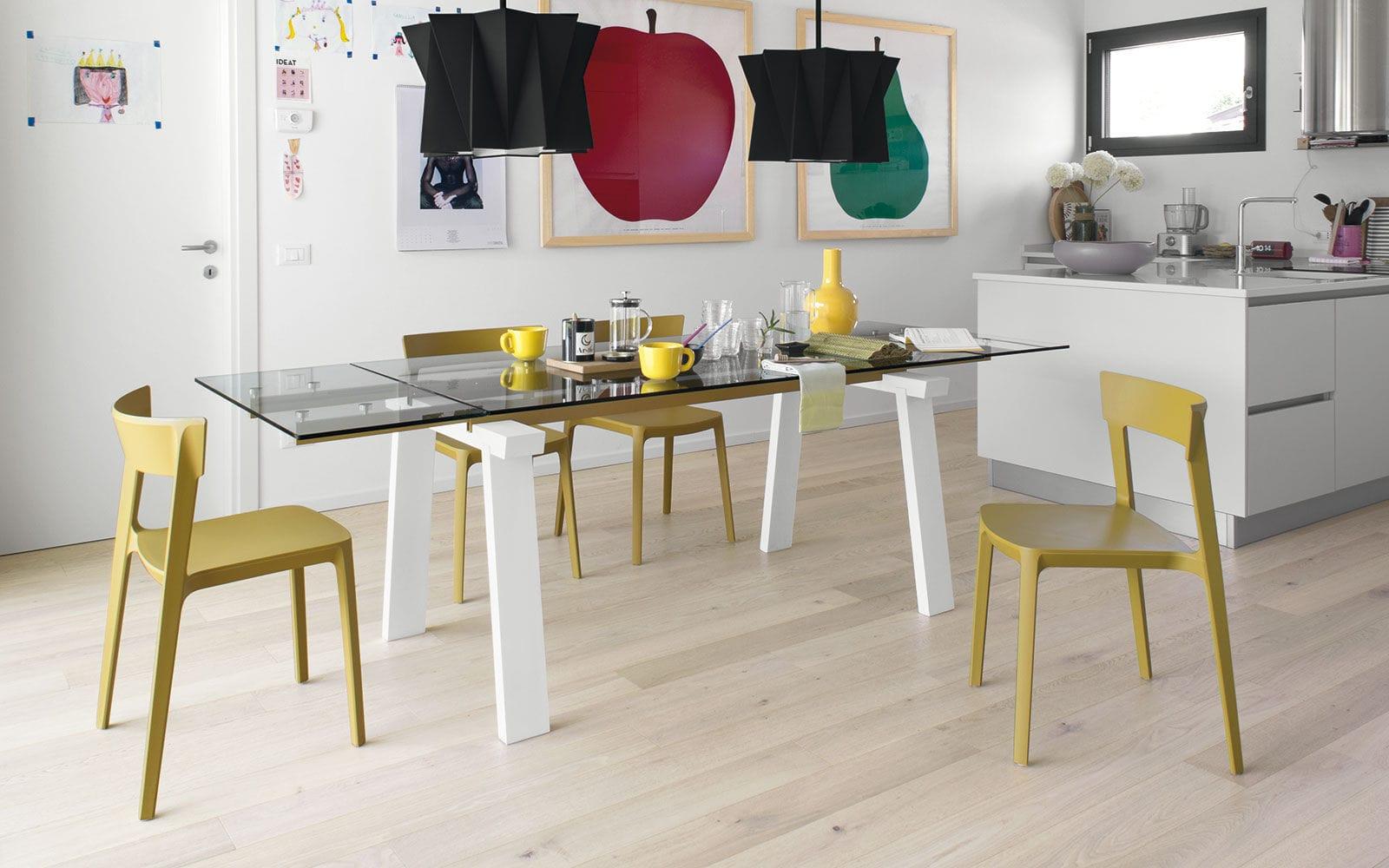 Tavolo da pranzo moderno / in legno / in metallo / in vetro temprato ...