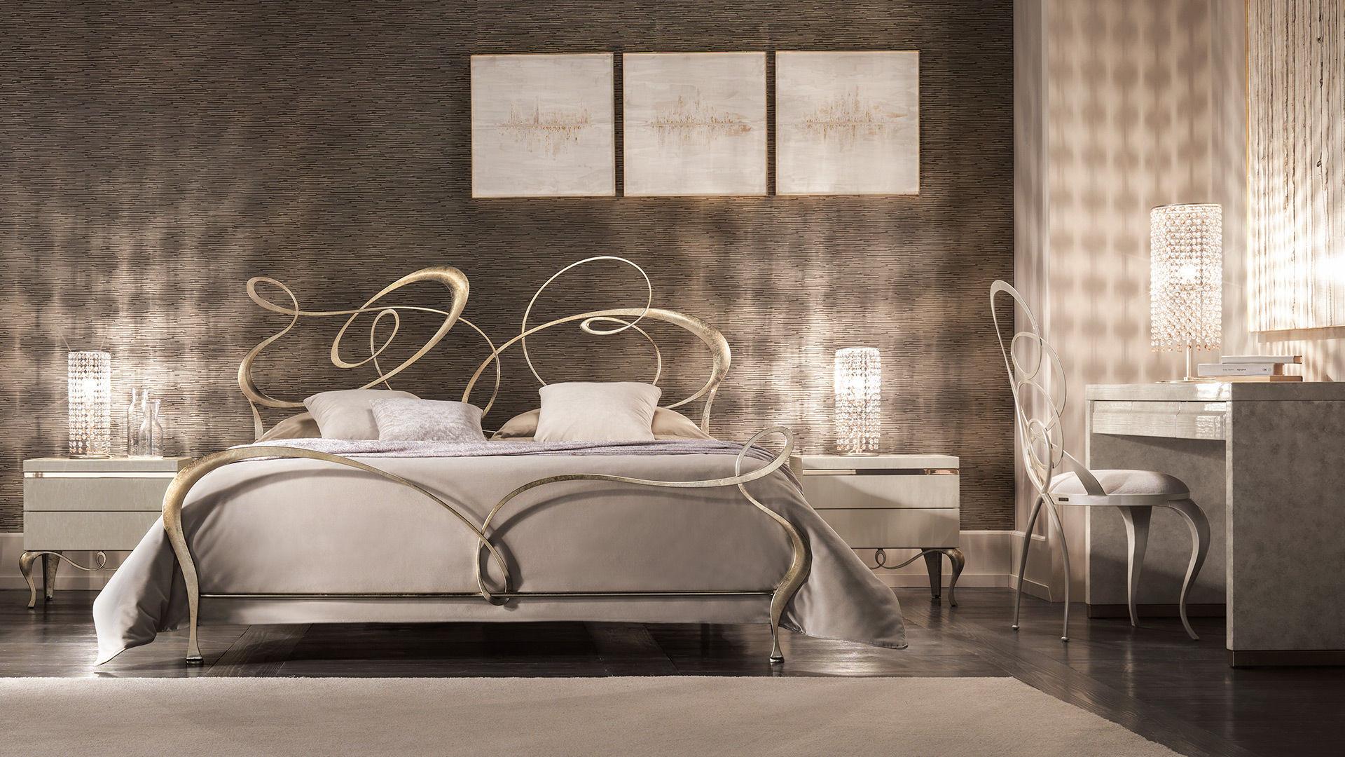 Letto standard / doppio / design nuovo barocco / in ferro battuto ...