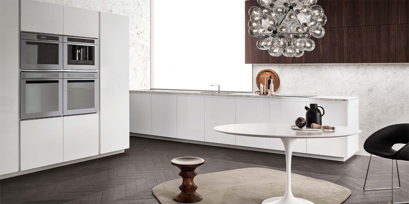 Cucina moderna / in marmo / in legno / lucida - ONE - ERNESTOMEDA