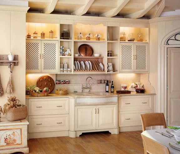Cucina in stile provenzale / in legno / fatta a mano - LUXURY by ...