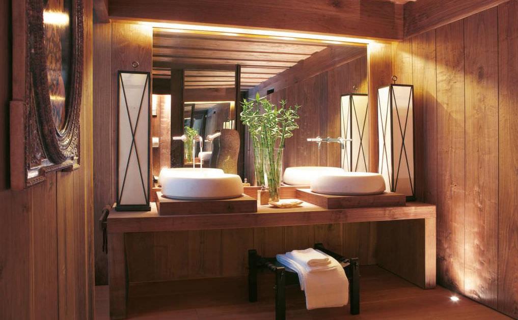 bagno moderno / in legno - trend planed walnut by studio sgroi - faoma - Bagni Moderni Legno